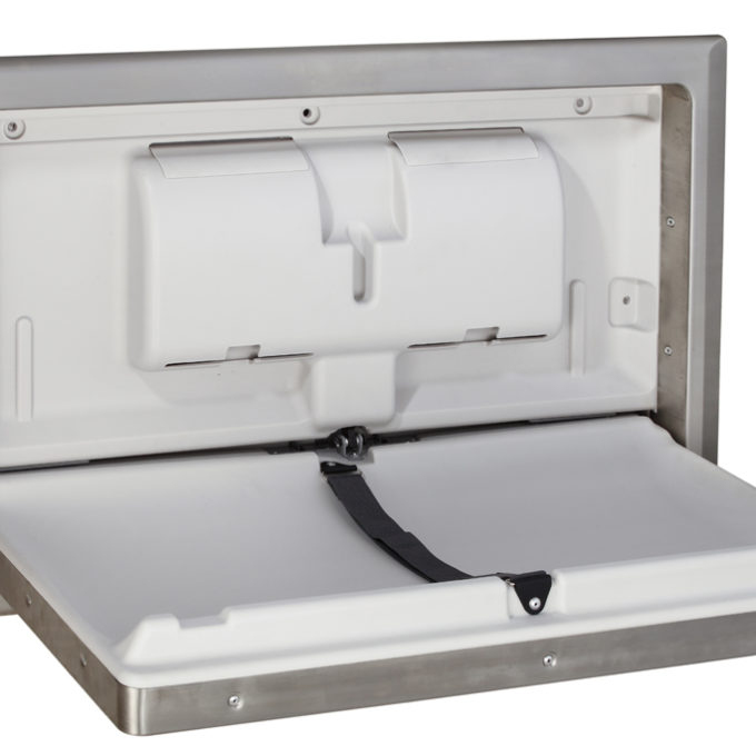 baby change table horizontal stainless steel open angle 67018