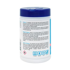 Extra Antibacterial 75 alcohol wet wipes 100s side