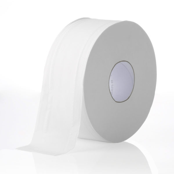 Livi Essentials Embossed Bathroom Jumbo Toilet Paper 2 ply 300 m, 8 Rolls 1100