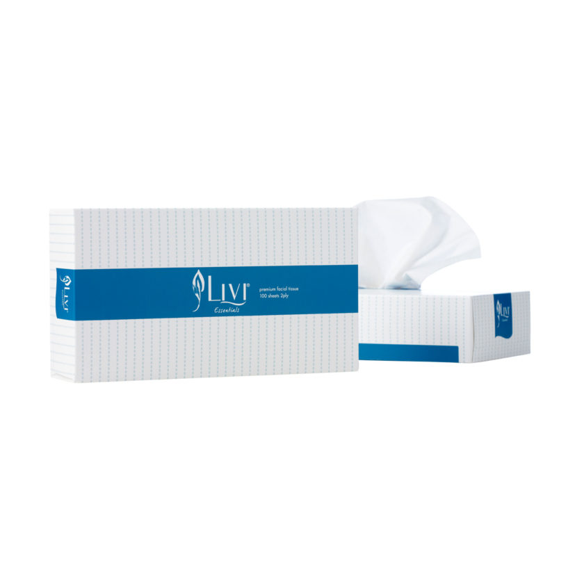 Livi Essentials facial tissue 100 sheets 1301