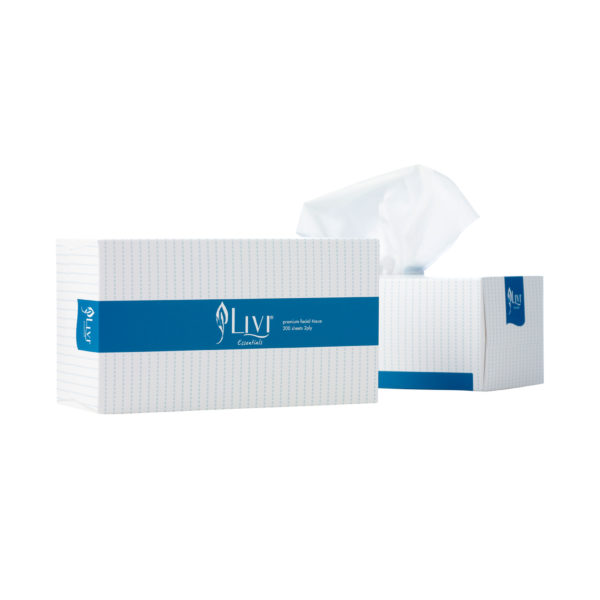 Livi Essentials facial tissue 200 sheets 1302
