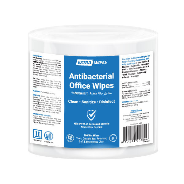 Extra Antibacterial Office Roll Wipe 900 pack