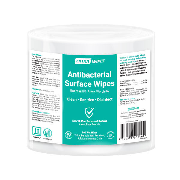 Extra Antibacterial Surface Roll Wipe 900 pack
