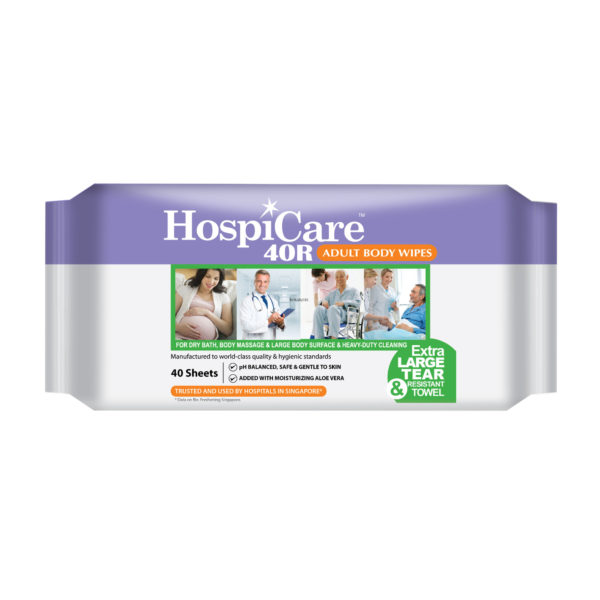 HospiCare 40R Adult Body Wipes front
