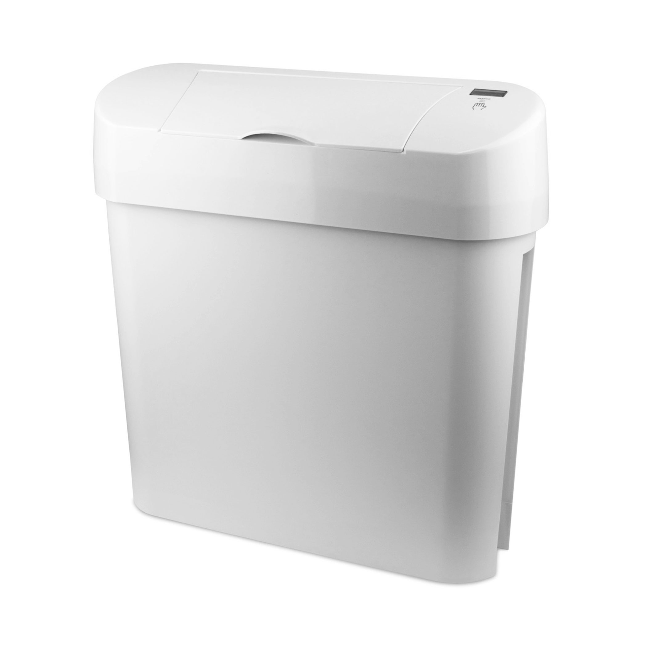 Automatic Sanitary Bin 15L white angle 72006W CD 7002A