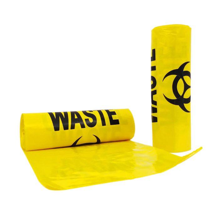 240L Clinical Waste Bags Bio Hazard Heavy Duty 10 per Roll