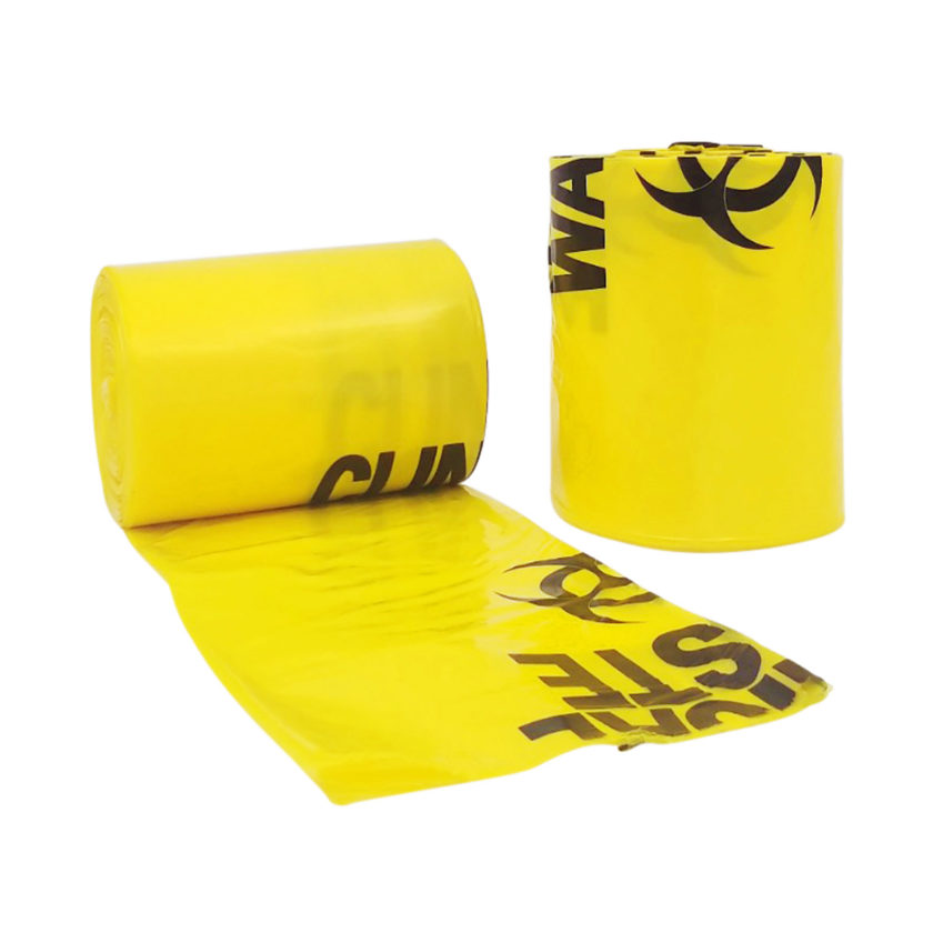 27L Clinical Waste Bio Hazard Heavy Duty Bags, 10 per Roll