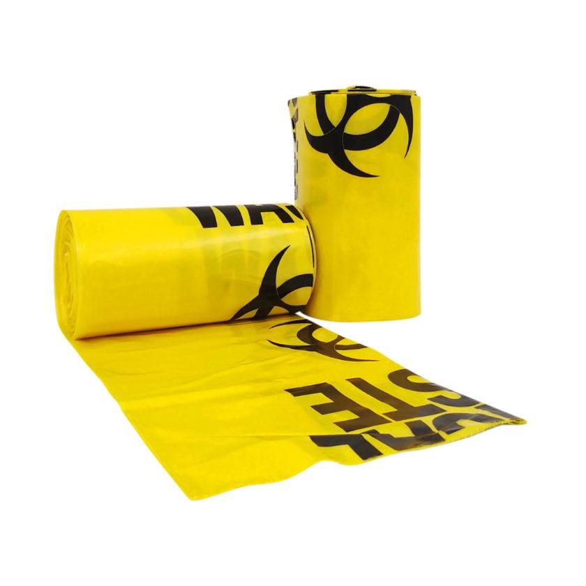 75L Clinical Waste Bio Hazard Heavy Duty Bags, 25 per Roll