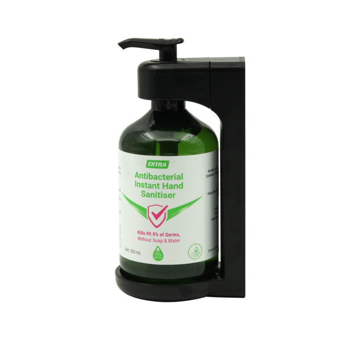 Extra Antibacterial Hand Sanitiser Gel 300mL with holder