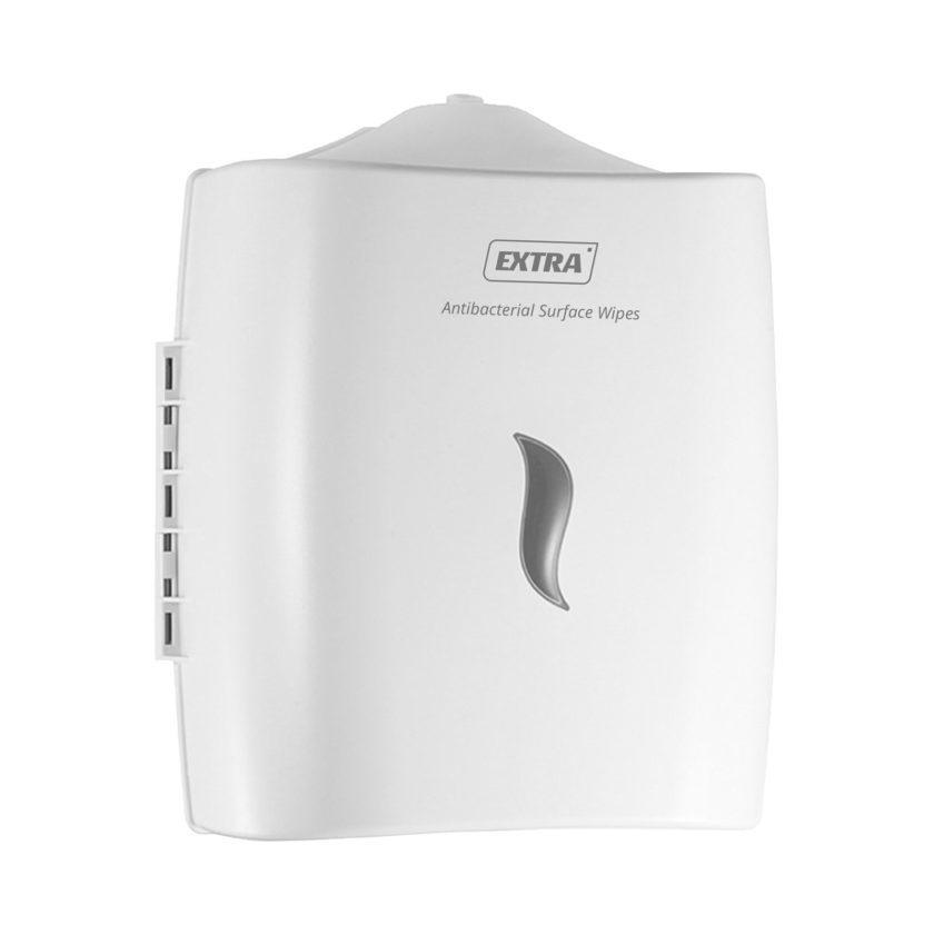 extra wall mount wet wipes dispenser white